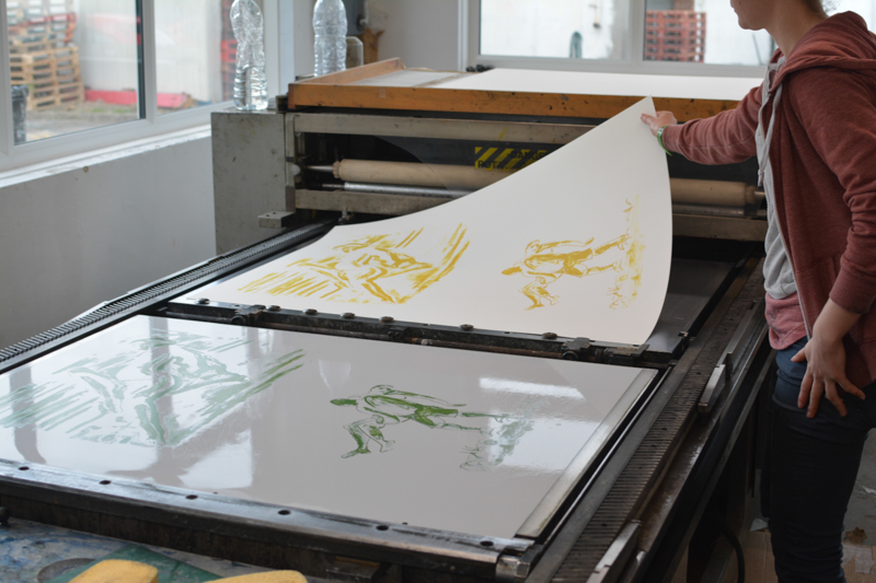 Printing Anzac Lithographs